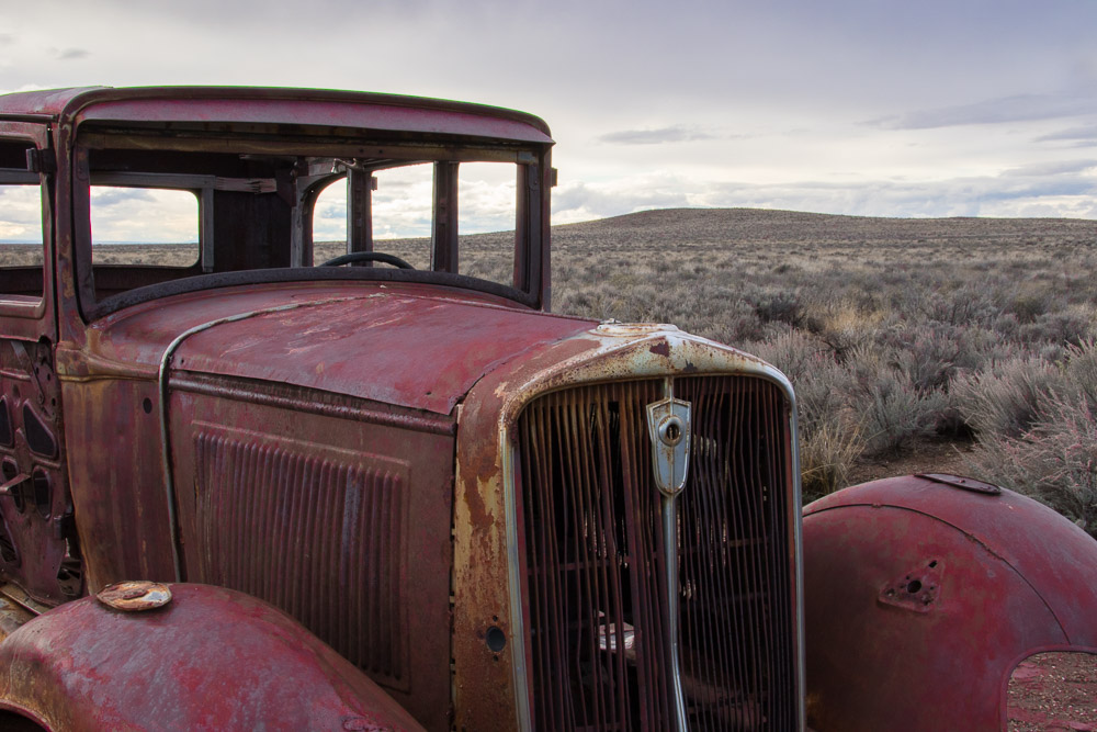 Old rusted car - Painted Desert, Arizona - Fine Art Landscape Photography by Kerry O'Brien