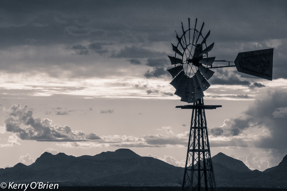 Windmill, Arizona - photography by Kerry O'Brien