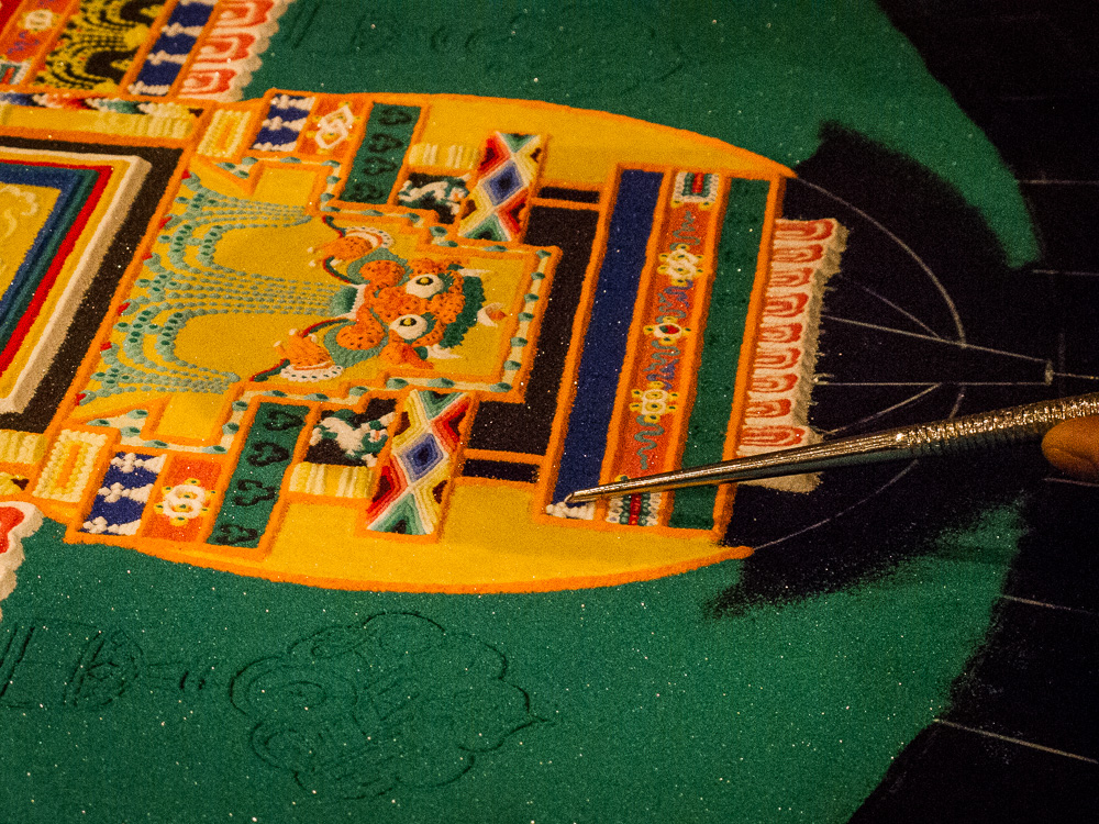Tibetan Sand Painting-photo by Kerry O'Brien