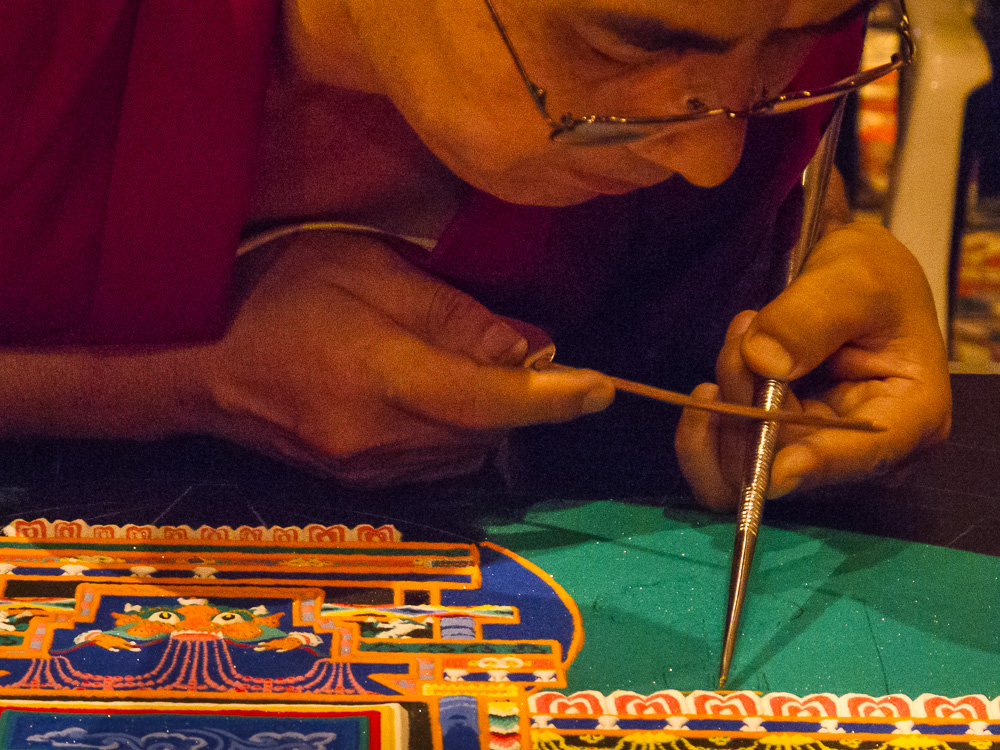 Kerry O'Brien Photographer - Tibetan Monk Sand Paintings