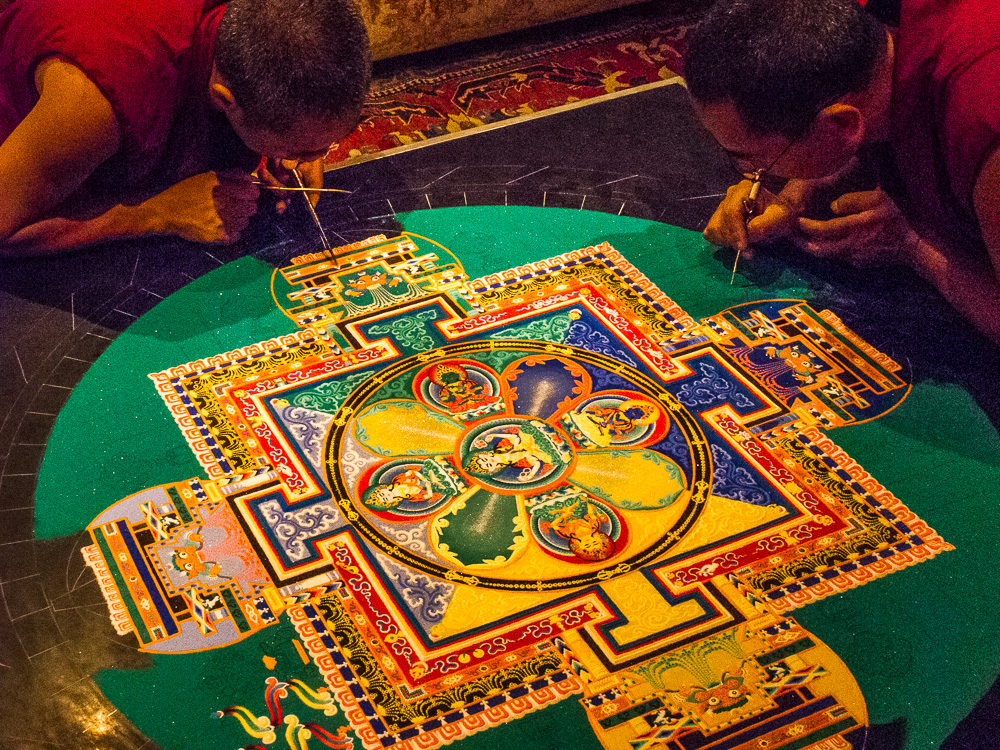 Tibetan Buddhist Monk Mandala - Photography by Kerry O'Brien